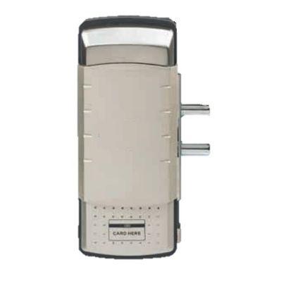 CERRADURA ELECTRONICA IZQUIERDA CON TARJETA Y TECLADO PARA VIDRIO DE 8-10mm EN ACERO 304 SATINADO