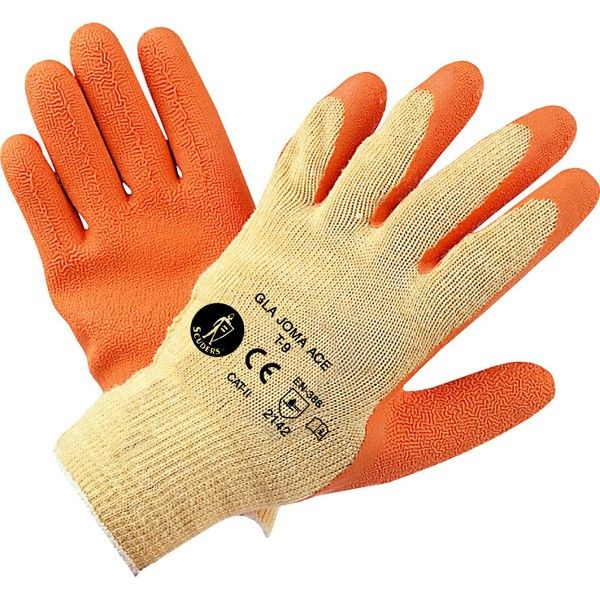GUANTES LATEX NARANJA TALLA XL